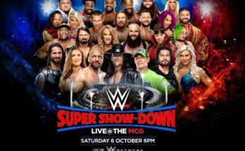 wwe, super show-down, super show-down 2018, undertaker, triple h, john cena, mcg, melbourne cricket ground, sportswhy