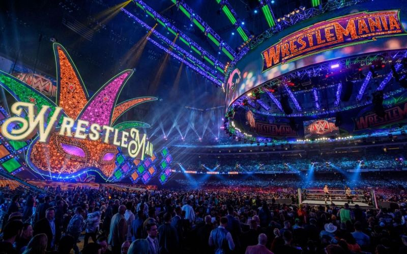 wrestlemania 34 stage, wrestlemania 34, wrestlemania stage, sportswhy, sports why