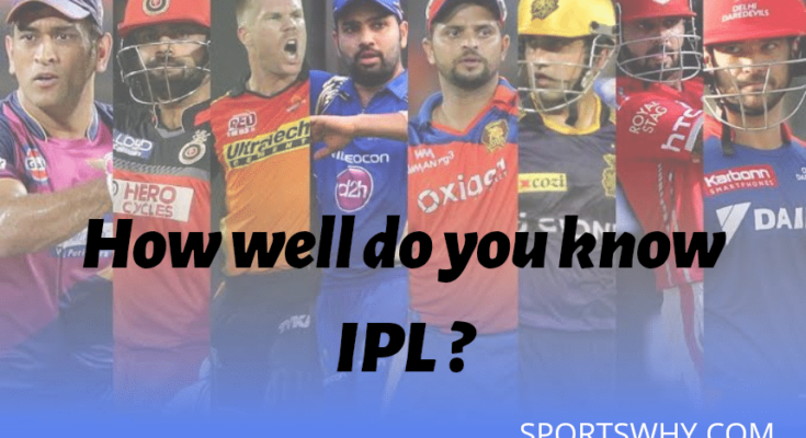 How well do you know IPL, cricket quiz, ipl quiz, ipl quiz 2019, cricket quiz 2019, sports quiz, sportswhy qiuz