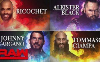 Four TOP NXT stars debuted on WWE Raw, Johnny Gargano, Tommaso Ciampa, Ricochet, Aleister Black, Ricochet Raw debut, Ciampa andGargano Raw debut, Aleister Black Raw debut, sportswhy, wwe, sportswhy wwe
