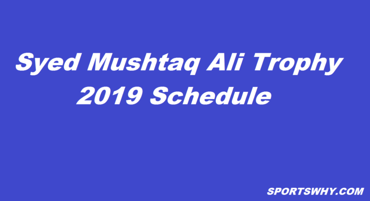 Syed Mushtaq Ali Trophy 2019 | Super League stage schedule, sportswhy, sportswhy cricket