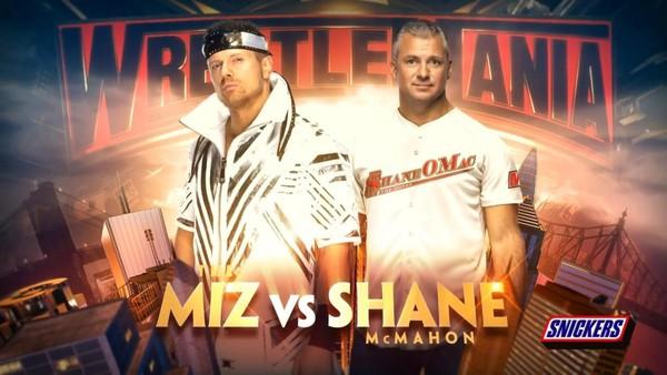 The Miz vs Shane McMahon at wrestlemania 35