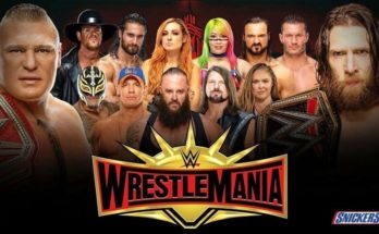 WWE WrestleMania 35 matches announced so far by WWE, WrestleMania 35, WrestleMania 35 poster, WrestleMania 35 match card, sportswhy, wwe