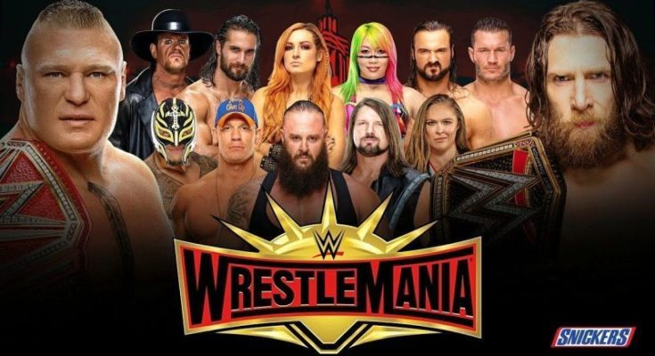 WWE WrestleMania 35 matches announced so far by WWE, WrestleMania 35, WrestleMania 35 poster, WrestleMania 35 match card, sportswhy, wwe