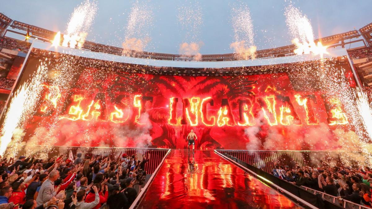 Amazing photos from WWE WrestleMania 35 entrances, WrestleMania 35 entrance, Brock Lesnar WrestleMania 35 entrance